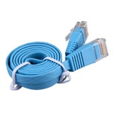 1pcs 0.5/1/2/3/5/10/15/20/25M RJ45 CAT6 8P8C Flat Ethernet Patch Network Lan Cable Blue In stock! - ZURBEXPRESS