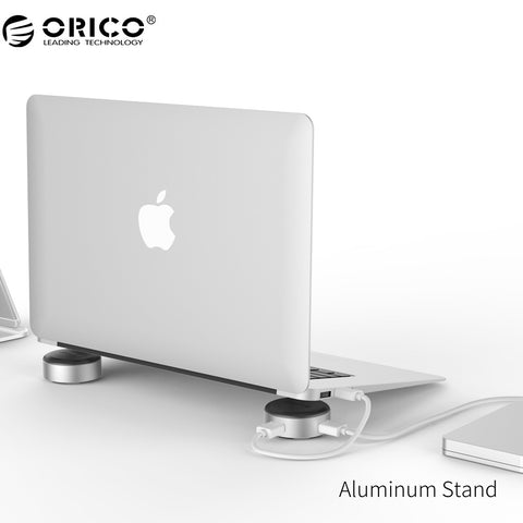 ORICO Aluminum Laptop Stand Portable with 3 Port USB 3.0 HUB for Notebook Universal Radiator - ZURBEXPRESS