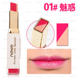 NOVO Brand lipstick lip gloss makeup batom gradient color Korean style Two color tint lip stick long lasting waterproof lip balm - ZURBEXPRESS