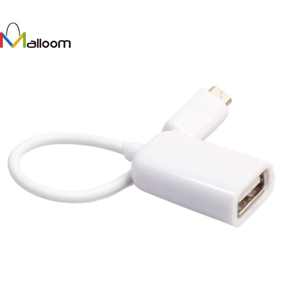 New Arrival USB 2.0 A Female to Micro B Male Adapter Cable USB HUB Micro USB Host Mode OTG Cable #20 - ZURBEXPRESS