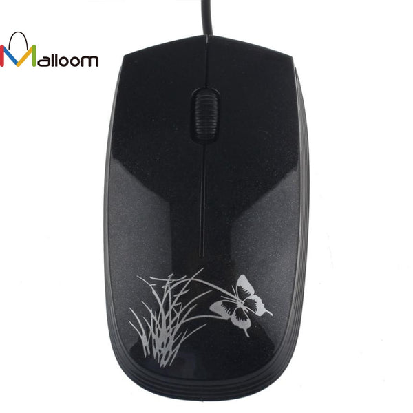 Malloom 2017 PC Accessories Mouse Wireless USB 2.0 Wired Game Mouse Small Optical LED Mouse For PC and Laptop Computers - ZURBEXPRESS