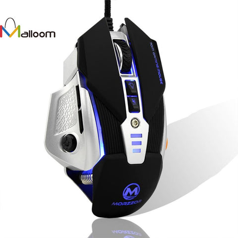 Malloom 2016 Mouse Games Optical 3200 DPI 8D Buttons LED Mechanical Wired Gaming Mouse For PC Laptop - ZURBEXPRESS