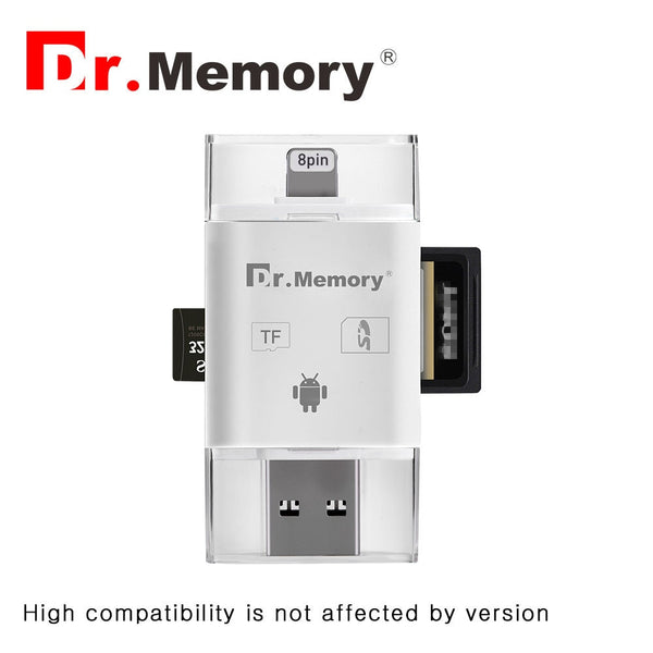 micro Sd card reader for Apple iphone 6s 7 plus Pendrive metal Expansion Android phone OTG memory card adapter 2.0 interface - ZURBEXPRESS