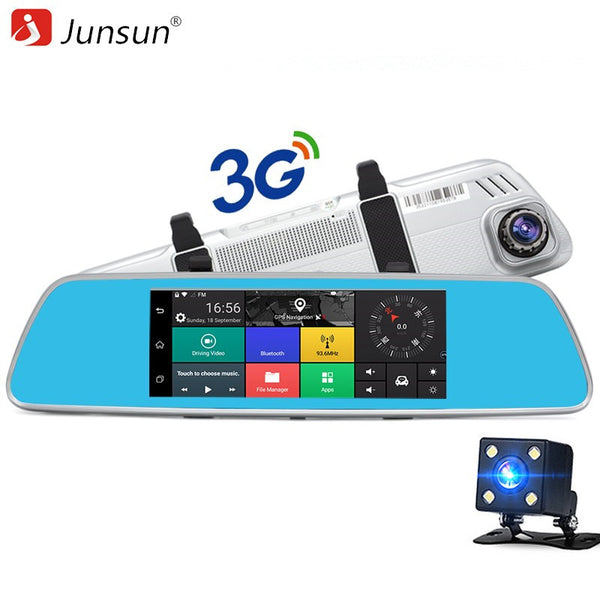 "Junsun A760 3G Dual Lens Car DVR Mirror Video Camera 7"" Android 5.0 Dash Cam Quad Core Full HD 1080P Video Recorder - ZURBEXPRESS"