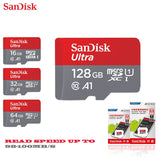 SanDisk micro sd 128GB 64GB 32GB 16GB 98mb/s TF usb flash memory card microsd  8GB/48MB/s