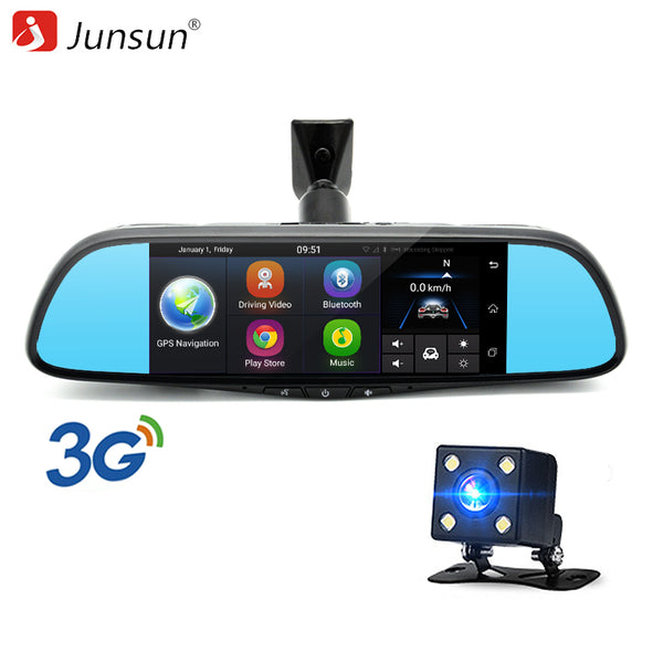 "Junsun Car DVR Camera Mirror 3G Special Auto 7"" Android 5.0 Dash Cam Full HD 1080P Video Recorder Bluetooth Auto Registrar DVRs - ZURBEXPRESS"
