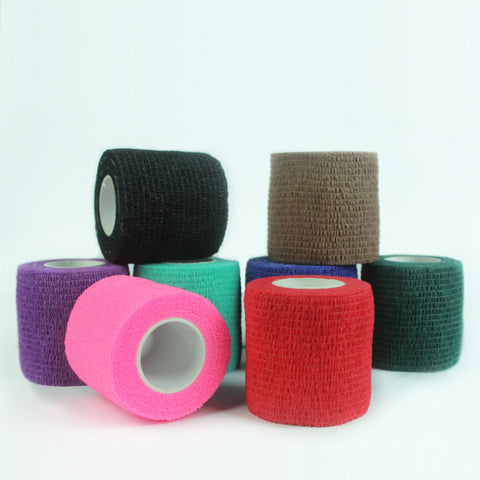 Disposable Self Adhesive Elastic Bandage For Handle With Tube Tightening Of Tattoo Accessories Random Color x1 - ZURBEXPRESS