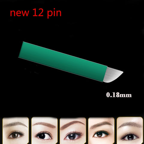 New 0.18mm diameter 12 pin microblading needles blades Tebori Microblading - ZURBEXPRESS