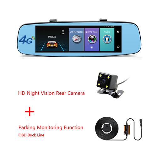 "Junsun A880 ADAS Car DVR detector 4G Camera Video recorder mirror 7.86"" Android 5.1 with two camera dash cam Registrar black box - ZURBEXPRESS"