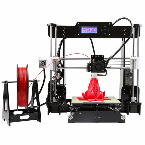 Anet A8 3D Printer High-precision LCD Display Acrylic Frame Aluminum Hotbed DIY 3D Printing Machine Kit With 10m Filament - ZURBEXPRESS
