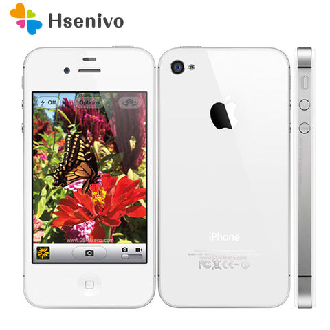 iPhone4S Original Factory Unlocked Apple iPhone 4S IOS Dual Core 8MP WIFI WCDMA Mobile Cell phone TouchScreen iCloud refurbished - ZURBEXPRESS