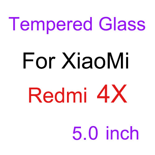 For Xiaomi Redmi 4X Tempered Glass 9H Ultra Slim Clear Screen Protector Glass front glass film case For Xiaomi Redmi 4X Pro - ZURBEXPRESS