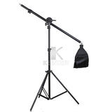 3x Godox Ultra Slim LEDP260C 256pcs LED 30W 3300-5600K Video Light Panel Lighting Kit +2m Stand + Remote Controller+Boom Arm+Bag - ZURBEXPRESS