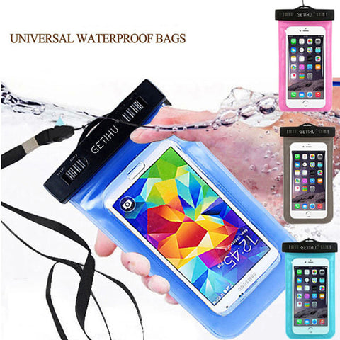 GETIHU Universal Sealed Waterproof Case For iPhone X 8 7 6 s Plus Cover Pouch Bag Cases For Phone Coque Water proof Phone Case - ZURBEXPRESS