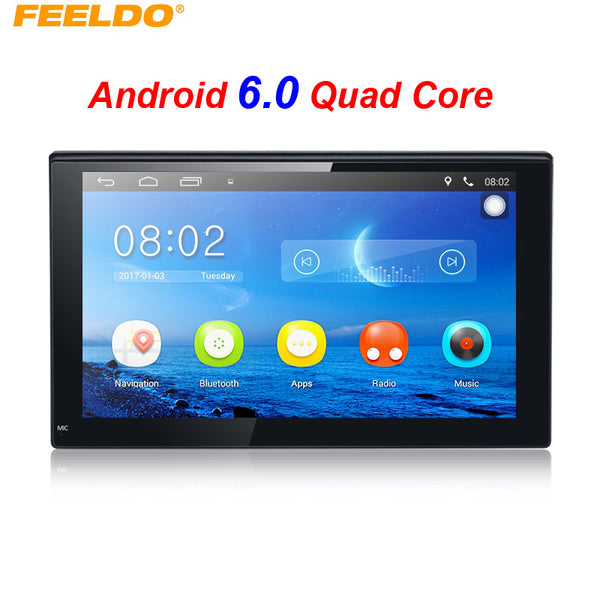 FEELDO New 7inch Ultra Slim Android 6.0 Quad Core For Nissan/Hyundai 2DIN ISO Car Media Player With GPS Navi Radio #FD3887 - ZURBEXPRESS