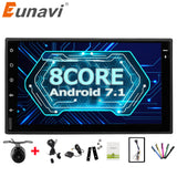 "Eunavi Universal 7"" Octa 8 core 2 din Android 7.1 Car Radio Double 2Din autoradio wifi GPS Navigation BT car pc Stereo 2G RAM - ZURBEXPRESS"