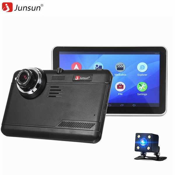 Junsun Full HD 1080p Car DVR Camera Android GPS Navigator Video Recorder Dual Lens With Rear View Camera Dash Cam - ZURBEXPRESS