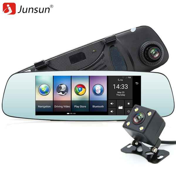 JUNSUN A800 Dual Lens GPS FHD 1080P 4G/3G WIFI Car DVR Dash Cam Camera 140 Degree Angle Video Recorder Rear View Mirror - ZURBEXPRESS