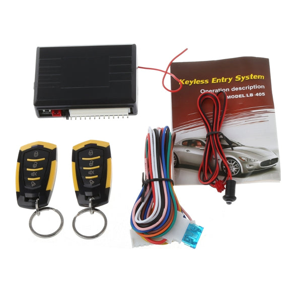 433MHz 12V Car Auto Alarm Remote Central Door Locking Vehicle Keyless Entry System Kit - ZURBEXPRESS