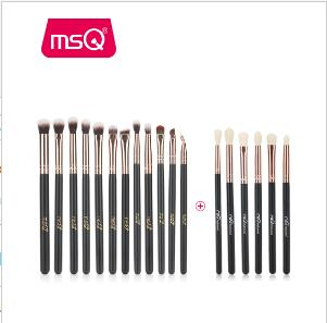 MSQ 12pcs+6pcs Eye Makeup Brushes Set Professional Eyeshadow Blending Make Up Brushes Soft Synthetic Hair Without Skin Hurt - ZURBEXPRESS