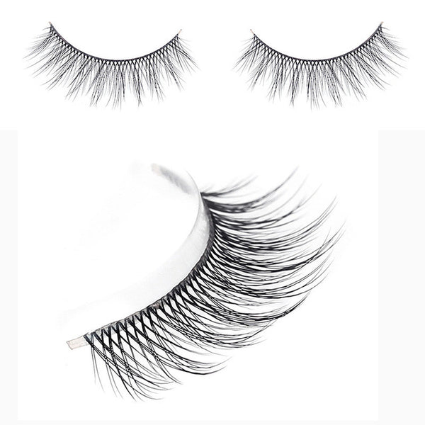 new 3 pairs natural false eyelashes high quality supernatural hand made 3d mink lashes beauty makeup eye lash - ZURBEXPRESS