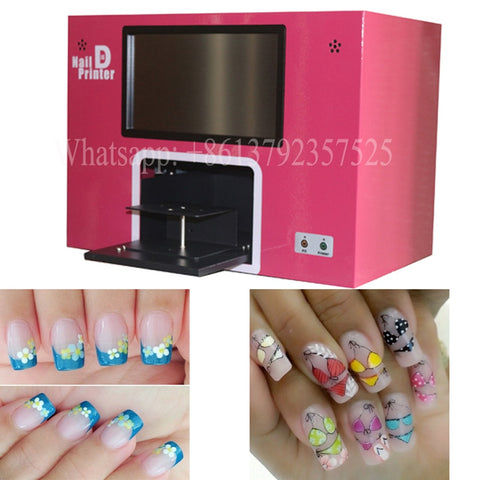 5 nails printing New upgraded 3 years warranty digital nail printer cartridgesand polishes freely - ZURBEXPRESS