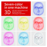 foreverlily 7 colors LED Facial Mask face mask machine Photon Therapy Light Skin Rejuvenation Facial PDT Skin Care beauty Mask - ZURBEXPRESS