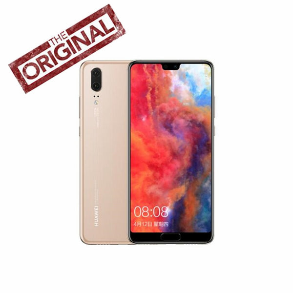 Original Huawei P20 6G 64G Android8.1 Kirin 970 Face ID 5.8 inch Full View Screen EMUI 8.1 24MP Front Camera 4G LTE Mobilephone