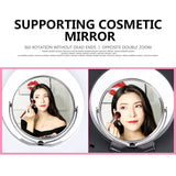 CY 8 Inch 24W5600K Dimmable Photo Studio selfie light  Makeup Ring Light Phone Video Live - ZURBEXPRESS