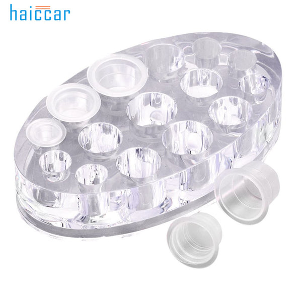 New HAICAR 1PC Practical Microblading Acrylic Pigment Ink Cup Machine Holder Permanent Makeup Tattooing Ink Cup Holder Pretty - ZURBEXPRESS