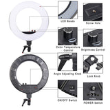 Light Ring Kit Photographic Lighting Camera Light Lamp With Stand For Video Smartphone - ZURBEXPRESS