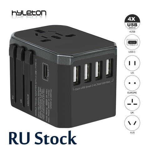 Adapter universal Power 4 in 1 Charger wall Electric Plugs Converter xiaomi/iphone phones - ZURBEXPRESS
