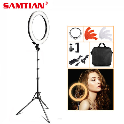 Ring Light Makeup Mirror Ring Lamp for Photo Studio YouTube Tripod 55W 5500K CRI90 240 LEDs