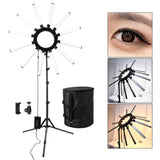 fosoto TL-1800 Photographic Lighting Dimmable 3200-5600K 12 Tubes 672 Leds Camera Photo Studio Phone Photography ring light Lamp - ZURBEXPRESS