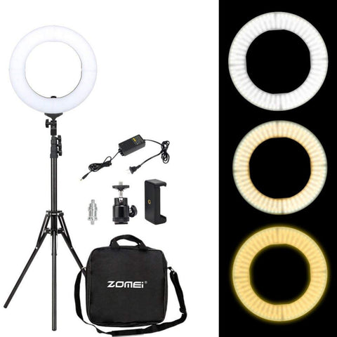 LED Ring Light Phone Holder Camera Photo Video Lighting Kit for Makeup Smartphone Youtube Video Shooting - ZURBEXPRESS