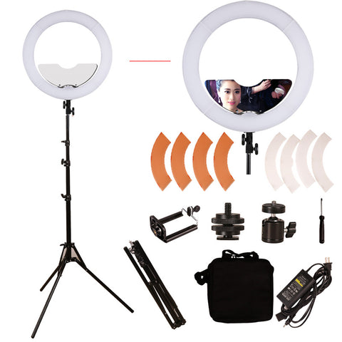 Ring Light Mirror Make Up Beauty Light with Stand for Wedding Photography, Beauty Light, Night Video