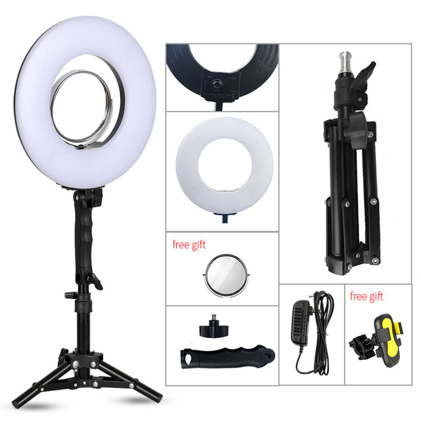 8 inch 24W 5500K 120 LED Photographic Lighting Dimmable Camera/Photo/Phone/Studio Photography Ring Light Lamp&Tripod Stand - ZURBEXPRESS