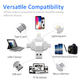 USB Flash Drive 4 in 1 Type-c Type C for Lightning Micro USB USB 2.0 for iPhone X 8 7 Plus 6S 5 Smartphone Metal 64GB Pen Drive
