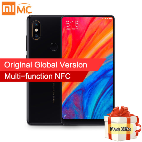 "In Stock Global Version Xiaomi Mi Mix 2S 6GB 64GB Snapdragon 845 Face ID NFC 5.99"" Full Screen AI Dual Camera Wireless charging - ZURBEXPRESS"