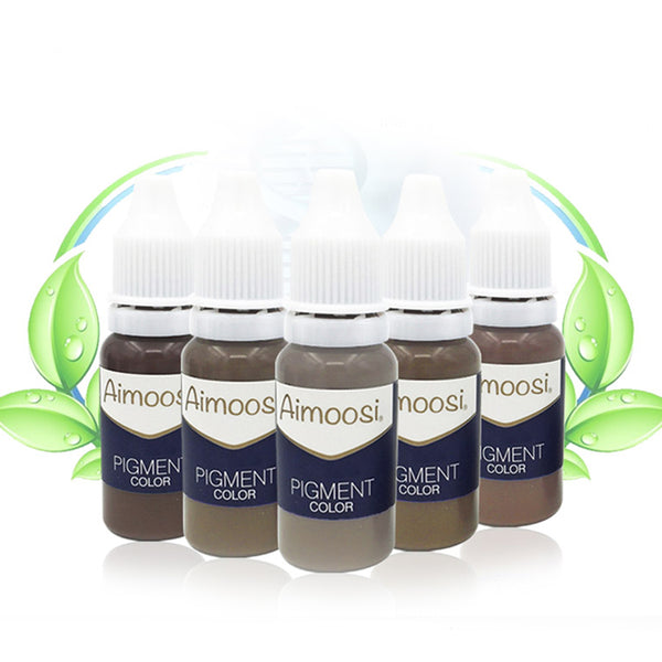 6 Bottles Aimoosi Tattoo Pigment For Tattoo Permanent Eyebrow Munsu Beauty Makeup Ink Free Shipping Goochie quality - ZURBEXPRESS