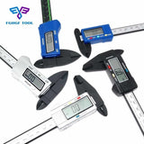 FGHGF 6inch 150mm Carbon Fiber Digital Electronic Vernier Calipers LCD Rule Pachometer Gauge Micrometer Thickness Measuring Tool - ZURBEXPRESS
