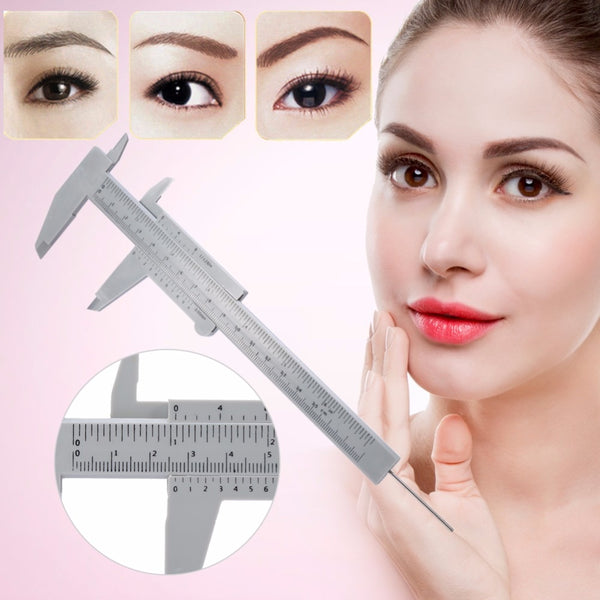 Portable 150MM Plastic Eyebrow Measuring Vernier Caliper Tattoo Microblading Caliper Ruler Permanent Makeup Measurement Tools