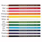 12pcs/box Japan White Black Dermograph Mitsubishi 7600 UNI Soft Colored Pencils for Tattoo Eyebrow Marker Paint Pencil - ZURBEXPRESS