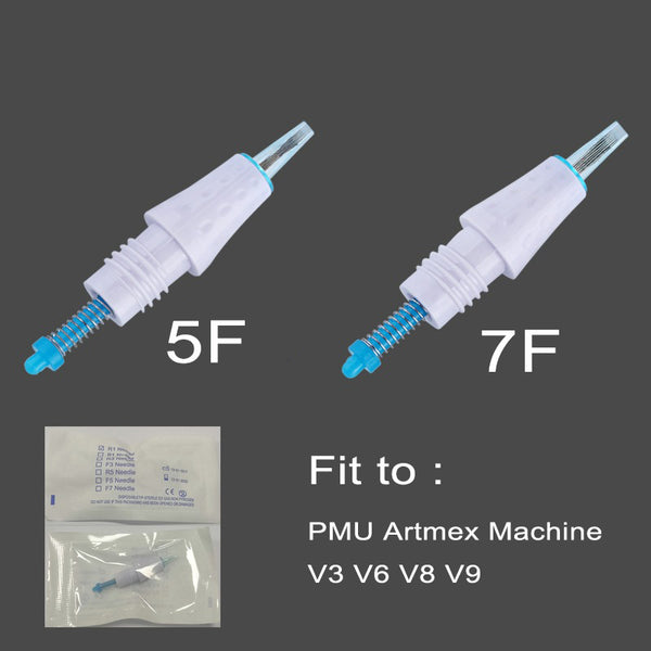 Tattoo Cartridge Needles for MTS PMU Artmex V6 V8 V3 Machine Needle for Embroidery for Semi Permanent Makeup Eyebrow Lips 1R 3R