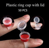 50pcs/lot Permanent Makeup Tools Best Selling Eyelash Extend Ring Cup Tattoo Ink Equipment Microblading Tattoo Pigment Holder - ZURBEXPRESS