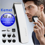 KEMEI Cordless 5 In 1 Electric Hair Trimmer Baby Low Noise Hair Clipper For Men Grooming Rechargeable Hair Cutting Machine - ZURBEXPRESS