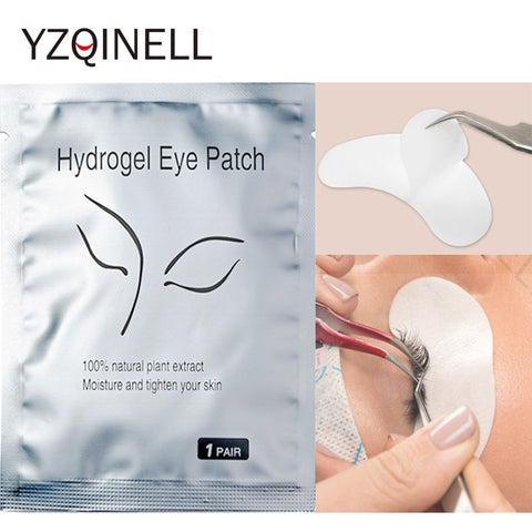 50 pairs/Lot Eyelashes Patches Eyelash Extension Under Eye Pads Lash Tips Sticker Wraps Patches for False Eyelash Makeup Tools - ZURBEXPRESS