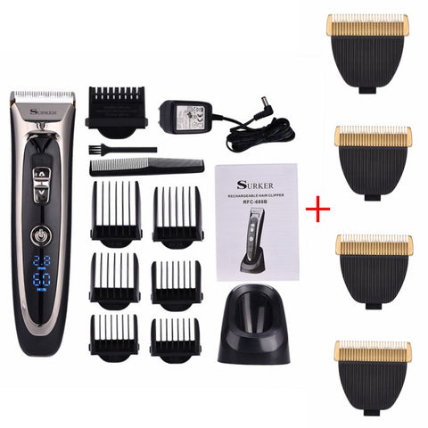 Powerful professional hair clipper men hair trimmer beard trimer electric cutter hair cutting machine haircut barber tool P40 - ZURBEXPRESS