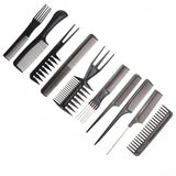 Professional Hair Comb Salon Barber Anti-static Hair Brush Combs Hairbrush Hairdressing Combs Hair Styling Tools 1set