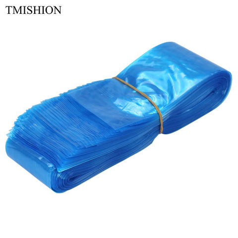 100Pcs/pack Disposable 61*5CM Tattoo Machine Clip Cord Hook Sleeve Bags Blue Plastic Hygiene Cover Tattoo Accessories Supplies - ZURBEXPRESS